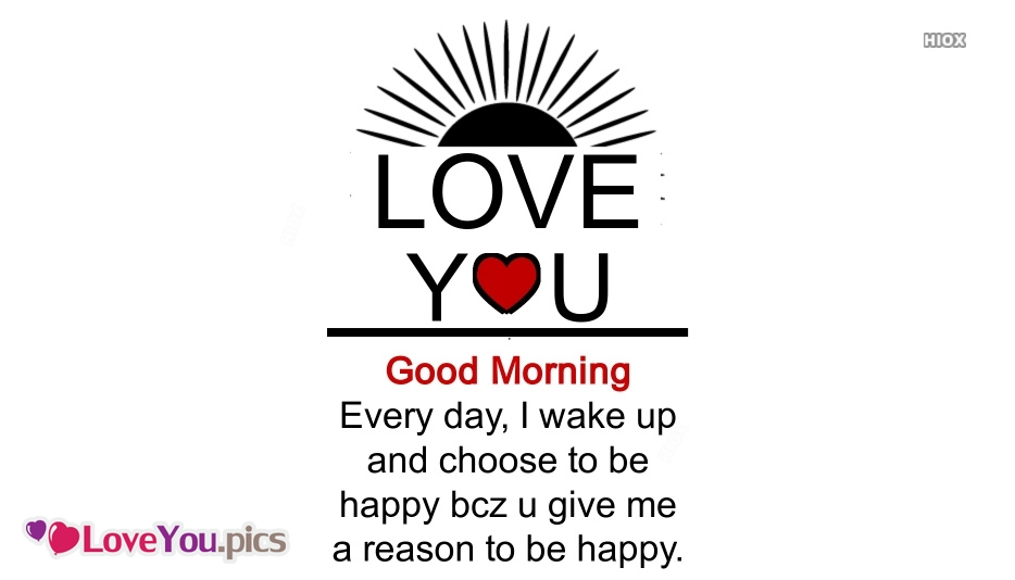 Good Morning My Wife Love You