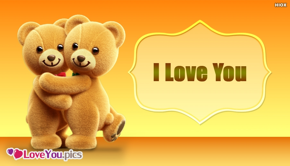 I Love You Image With Bear