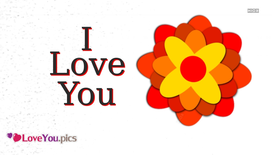 I Love You Flower Messages