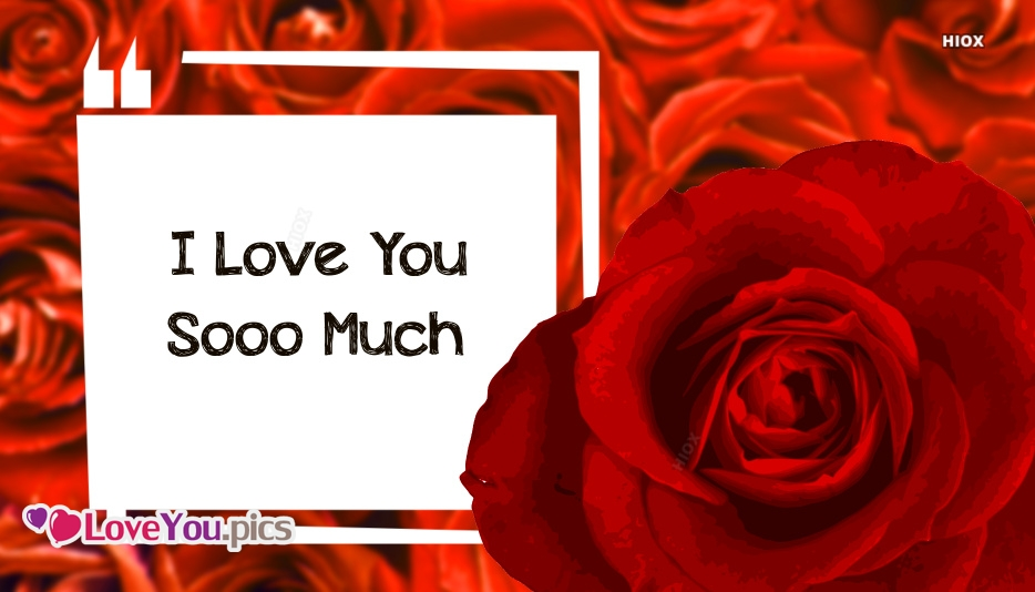 Love You Flower Image