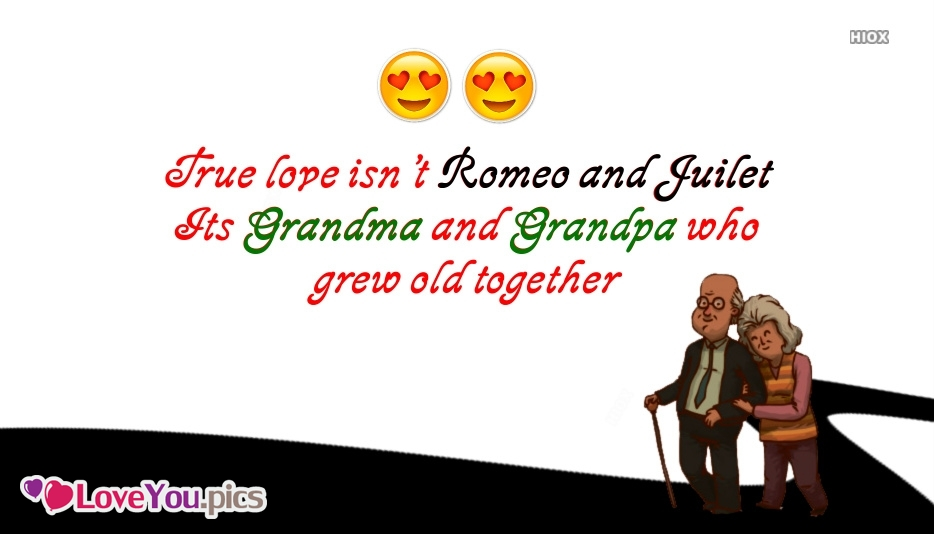 Old Couple Love Quote | True Love Isn