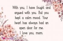 Dear Mom I Love You Quotes
