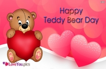 Happy Teddy Bear Day Wishes Greeting Image