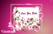 Cute I Love You Card