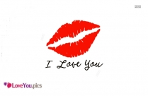 I Love You Images With Lips
