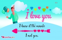 Sweet I Love You Quote For Girlfriend