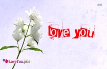 I Love You Flower Picture