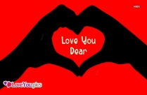 Love You Dear Love Heart Picture