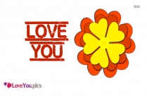 Love You Flower Wallpaper Download