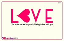 """I Love You"""" Begins By I, But It Ends Up By You - Charles De"""