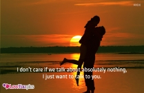 Love Sayings With Couple Kissing Image