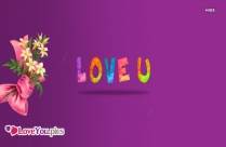 Love You With Flowers Images