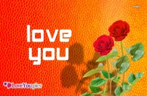 I Love You Flower Photo