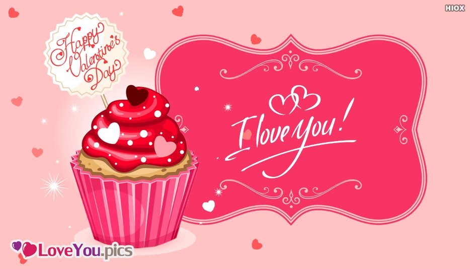 I Love You Valentines Day Image With Cake